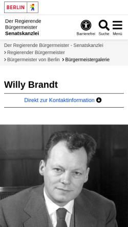 Vorschau der mobilen Webseite www.berlin.de, Willy Brandt - Berlin.de