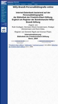 Vorschau der mobilen Webseite library.fes.de, Willy-Brandt-Personalbibliografie