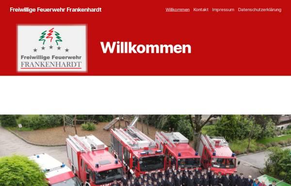 Vorschau von feuerwehr.frankenhardt.de, Freiwillige Feuerwehr Frankenhardt