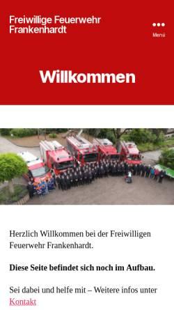 Vorschau der mobilen Webseite feuerwehr.frankenhardt.de, Freiwillige Feuerwehr Frankenhardt