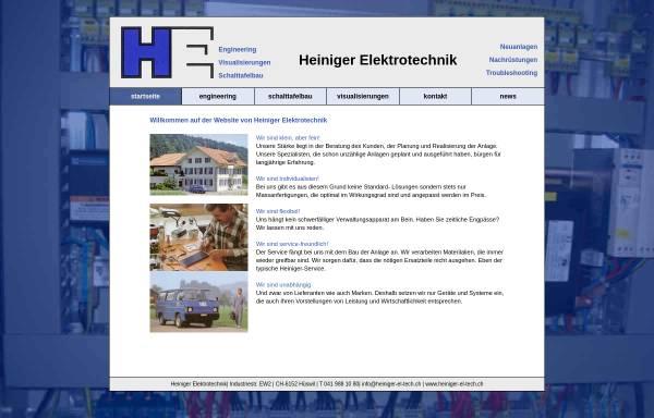 Vorschau von www.heiniger-el-tech.ch, Heiniger Elektrotechnik AG