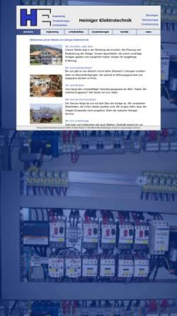 Vorschau der mobilen Webseite www.heiniger-el-tech.ch, Heiniger Elektrotechnik AG