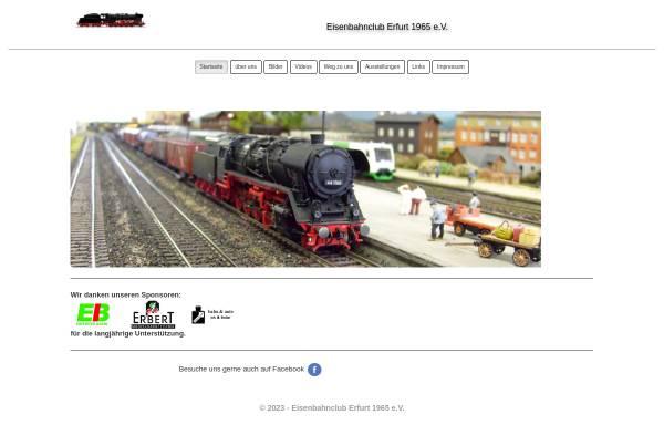 Vorschau von www.eisenbahnclub-erfurt.de, Eisenbahnclub Erfurt 1965 e.V.