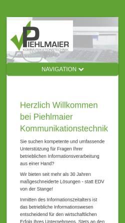 Vorschau der mobilen Webseite www.piehlmaier.de, Firma Piehlmaier