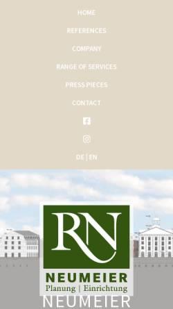 Vorschau der mobilen Webseite www.neumeier-haus.de, Rudolf Neumeier GmbH & Co KG
