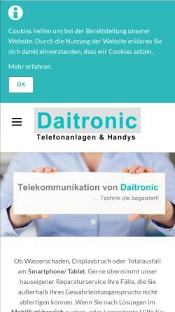 Vorschau der mobilen Webseite www.daitronic.de, Daitronic GmbH Telekommunikationszentrum
