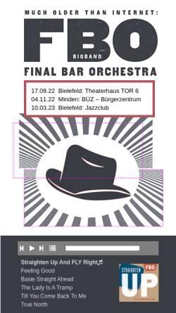 Vorschau der mobilen Webseite www.final-bar.de, Final Bar Orchestra