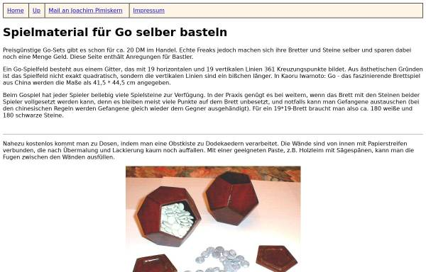 Vorschau von www.augos.com, Spielmaterial selber basteln