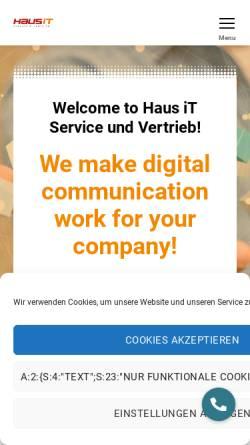 Vorschau der mobilen Webseite www.haus-it.de, Haus IT Service & Vertrieb, Inh. Mentor Consulting Limited & Co. KG