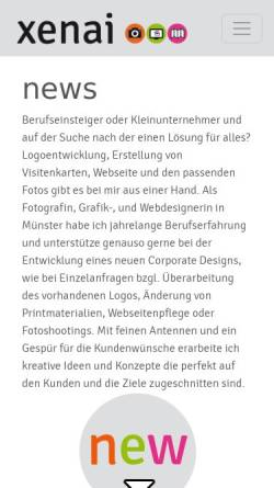 Vorschau der mobilen Webseite www.xenai.de, Xenai - der andere Blick