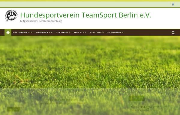 Vorschau von www.teamsport-berlin.de, HSV TeamSport Berlin