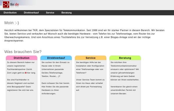 Vorschau von www.tkr.de, TKR GmbH & Co. KG