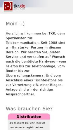 Vorschau der mobilen Webseite www.tkr.de, TKR GmbH & Co. KG