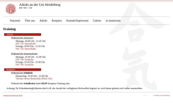 Vorschau von www.aikido-uni-hd.de, Aikido an der Uni Heidelberg