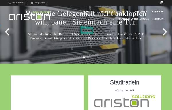 Vorschau von www.ariston.de, Ariston Vertriebs GmbH