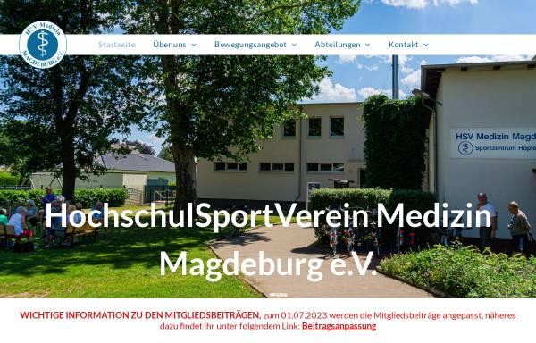 Vorschau von www.hsvmedizin.de, HSV Medizin Magdeburg e.V.