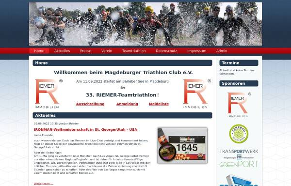Vorschau von magdeburgertc.de, Magdeburger Triathlon Club e.V.