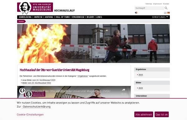 Vorschau von www.hochhauslauf.ovgu.de, Magdeburger Uni-Hochhauslauf