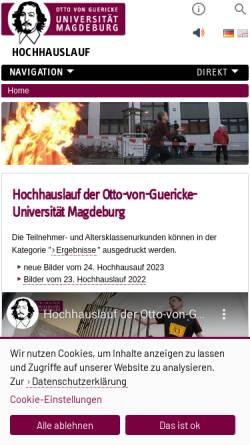 Vorschau der mobilen Webseite www.hochhauslauf.ovgu.de, Magdeburger Uni-Hochhauslauf