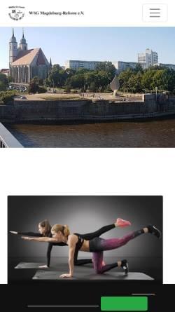 Vorschau der mobilen Webseite www.wsg-reform.de, WSG Reform Magdeburg e.V.