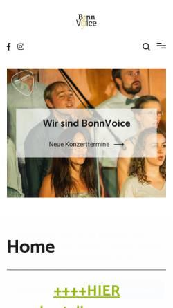 Vorschau der mobilen Webseite bonnvoice.de, Jazzchor BonnVoice