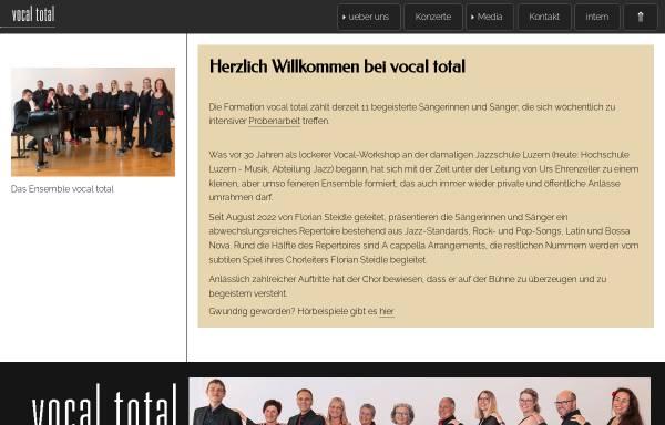 Vorschau von www.vocaltotal.ch, Jazzchor der Musikhochschule Luzern
