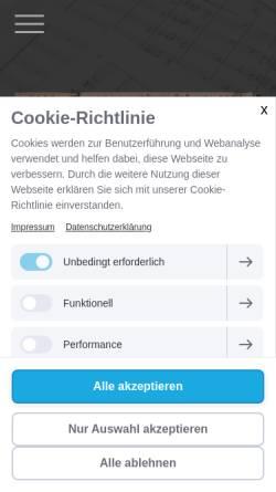 Vorschau der mobilen Webseite www.roundabout.de, Jazzchor Roundabout