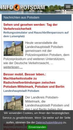 Vorschau der mobilen Webseite www.info-potsdam.de, Info-Potsdam