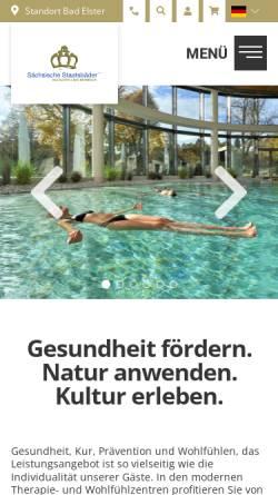 Vorschau der mobilen Webseite www.saechsische-staatsbaeder.de, Bad Elster