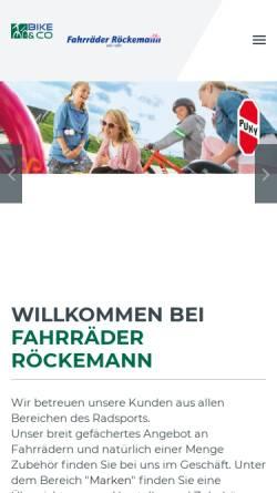Vorschau der mobilen Webseite www.roeckemann.de, Fahrräder Röckemann