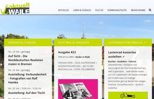 Vorschau von www.walle-aktuell.de, Walle aktuell