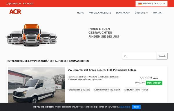 Vorschau von www.acr-juretzki.de, ACR-Juretzki Nutzfahrzeughandels GmbH