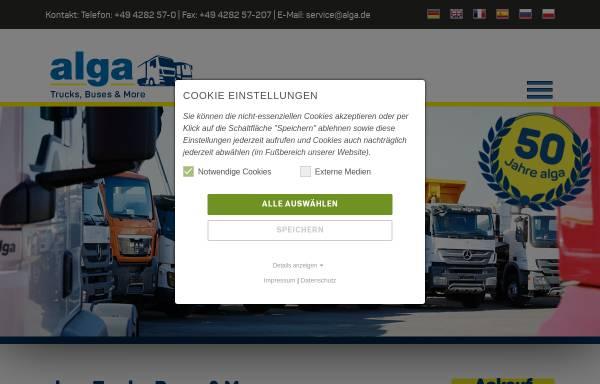 Vorschau von www.alga.de, Alga Nutzfahrzeug- und Baumaschinen GmbH & Co. KG