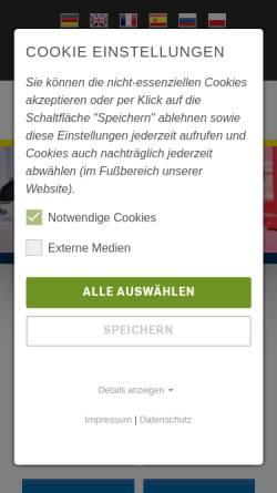 Vorschau der mobilen Webseite www.alga.de, Alga Nutzfahrzeug- und Baumaschinen GmbH & Co. KG