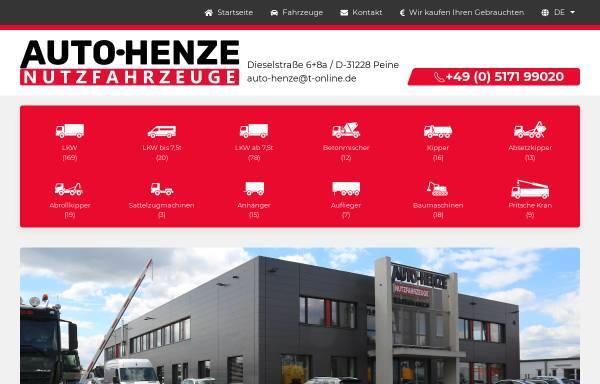 Vorschau von www.auto-henze.de, Auto-Henze Nutzfahrzeuge