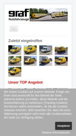 Vorschau der mobilen Webseite www.graf-nutzfahrzeuge.de, Graf Nutzfahrzeuge