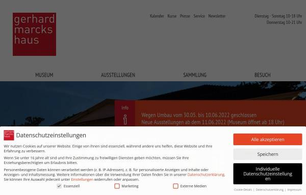Vorschau von www.marcks.de, Gerhard Marcks Haus