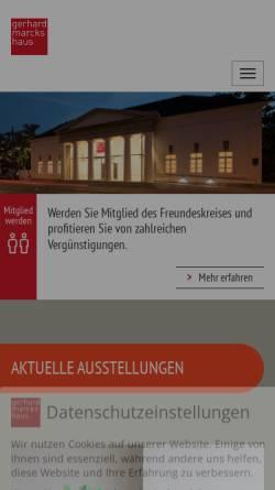 Vorschau der mobilen Webseite www.marcks.de, Gerhard Marcks Haus