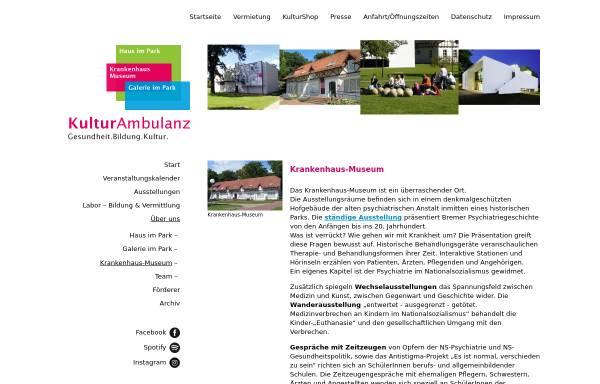 Vorschau von www.krankenhausmuseum.de, Krankenhaus-Museum Bremen