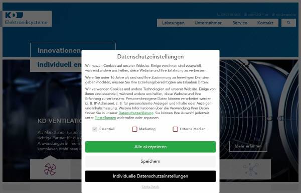 Vorschau von www.kd-elektroniksysteme.de, KD Elektroniksysteme GmbH