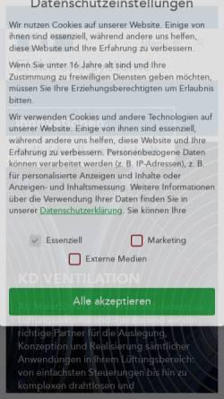 Vorschau der mobilen Webseite www.kd-elektroniksysteme.de, KD Elektroniksysteme GmbH