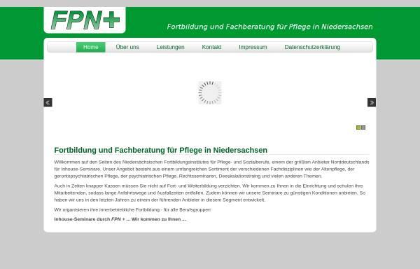 Vorschau von www.fpn-plus.de, Fortbildung und Fachberatung für Pflege in Niedersachen