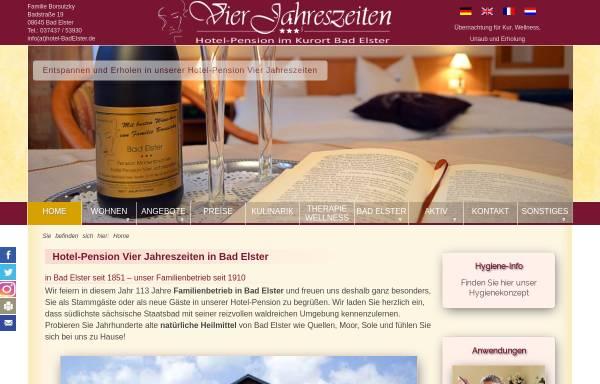 Vorschau von www.hotelpension-vj-badelster.de, Hotel-Pension Vier Jahreszeiten