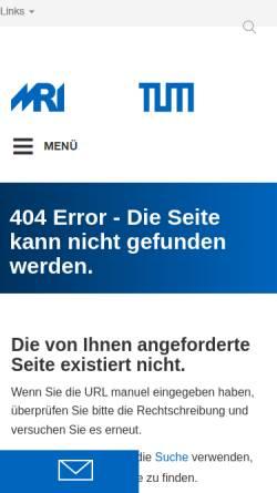 Vorschau der mobilen Webseite www.neuro.med.tu-muenchen.de, Deutscher Forschungsverbund Neuropathischer Schmerz (DFNS)