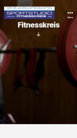 Vorschau der mobilen Webseite www.fitnesskreis.de, Fitnesskreis Stebner