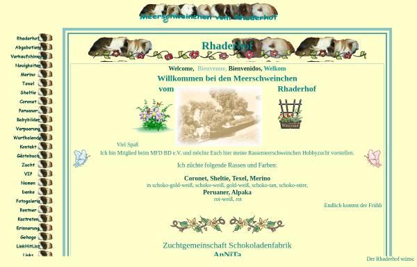 Vorschau von www.rhaderhof.de, Meerschweinchen vom Rhaderhof