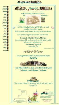 Vorschau der mobilen Webseite www.rhaderhof.de, Meerschweinchen vom Rhaderhof