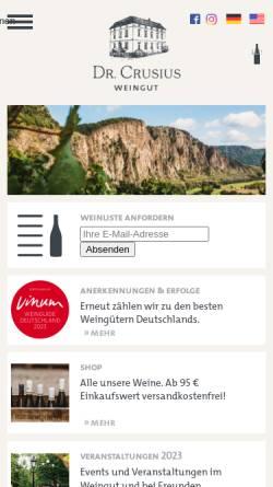 Vorschau der mobilen Webseite weingut-crusius.de, Weingut Dr. Crusius