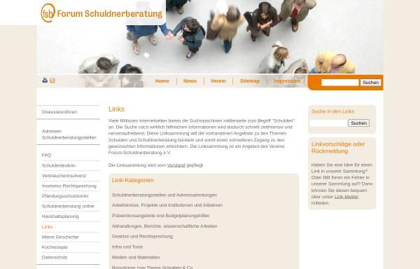 Vorschau von www.schulden-online.de, Linksammlung Schuldnerberatung
