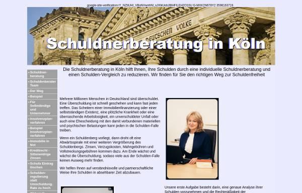 Vorschau von www.schuldnerberatung-Koeln.net, Kanzlei Lukas